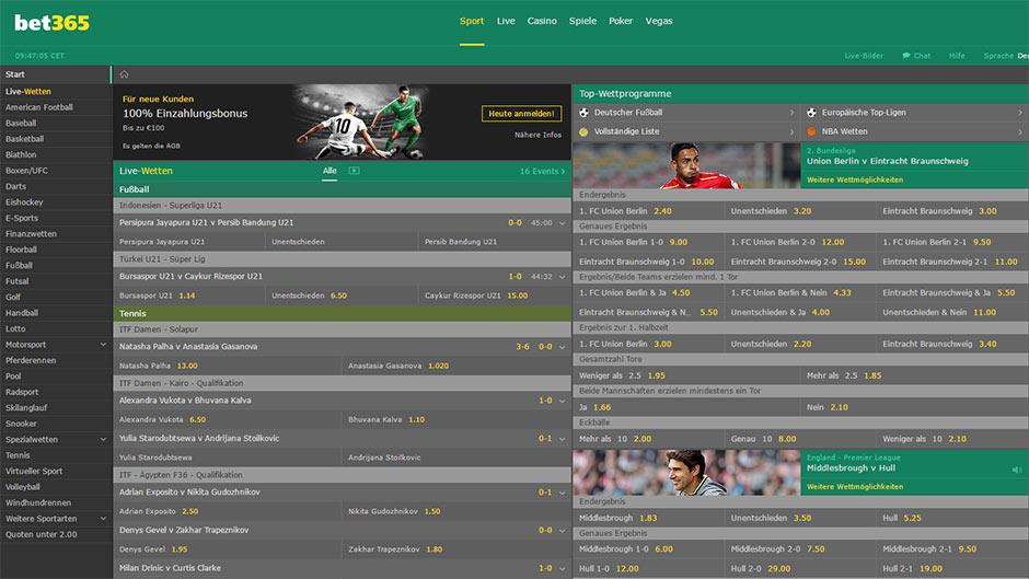 Bet365 Sportwetten Online