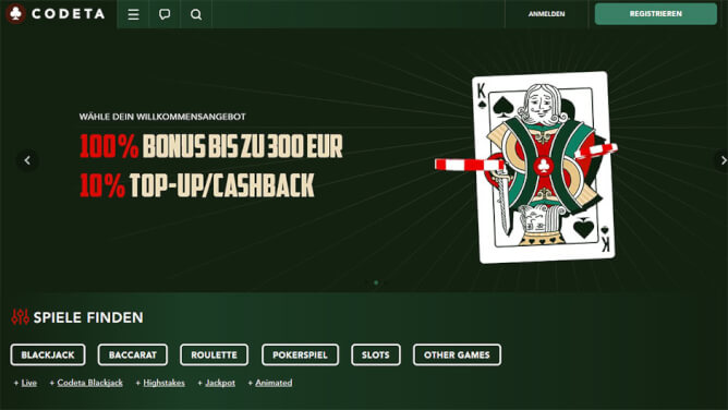 codeta casino testbericht