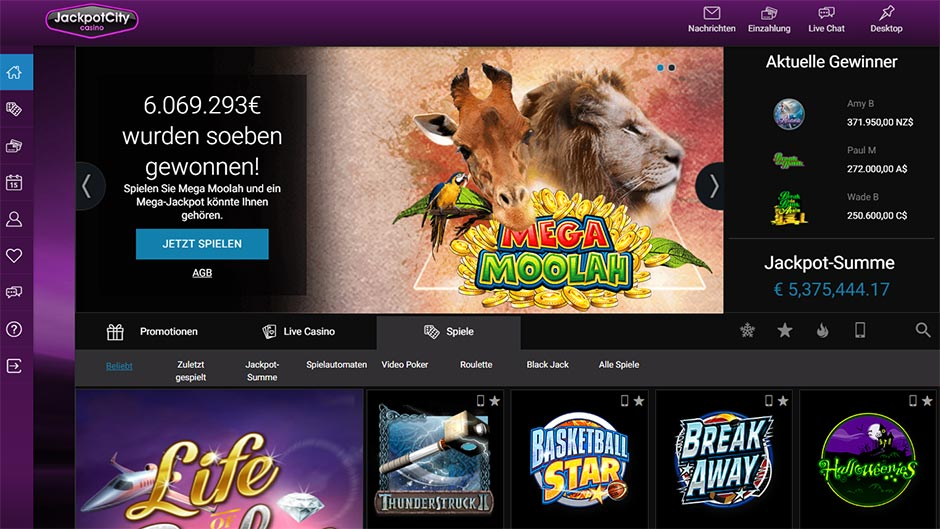 jackpot-city mega moolah online spielen