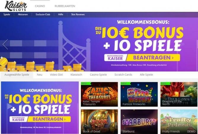Kaiser Slots Bonus