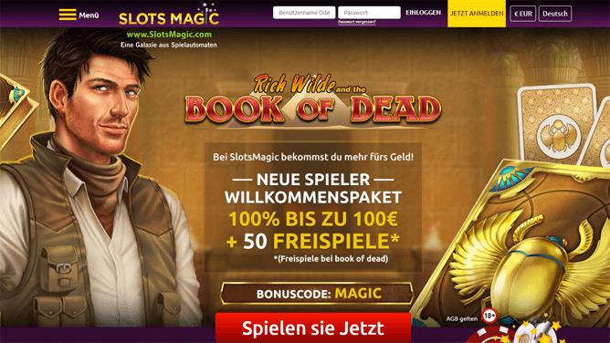 slots-magic-bonus: zahle 50€ ein und spiele mit 100€