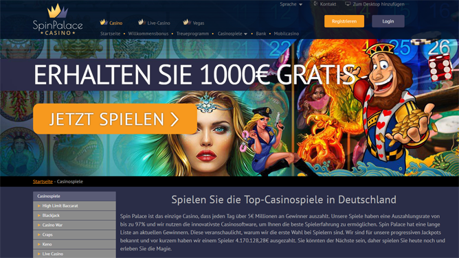 spin-palace-casino-spiele